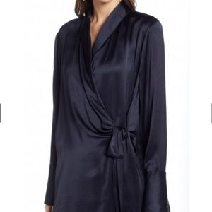 Silk-like wrap dress